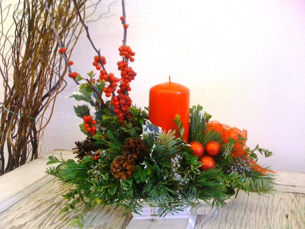 tidings of joy holiday centerpiece