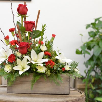 winter woods holiday centerpiece