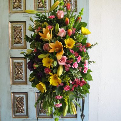 Sympathy spray-funeral flowers arrangements