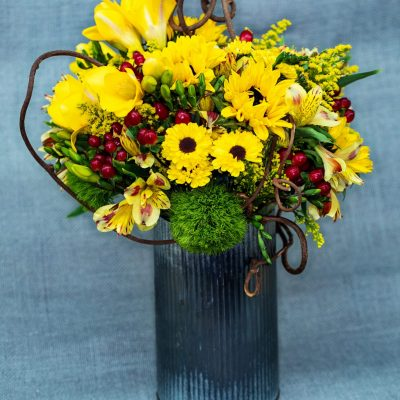 sunflowers rustic vase
