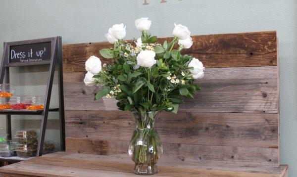 White rose sympathy