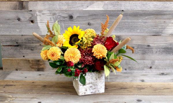 Colorful autumn arrangement