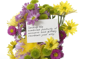A thinking of you note written for a friend or family member.