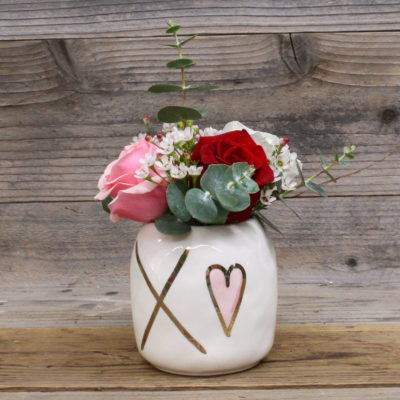 three roses custom vase