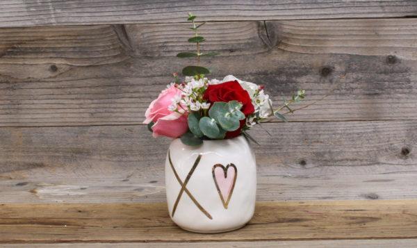 three roses custom vase