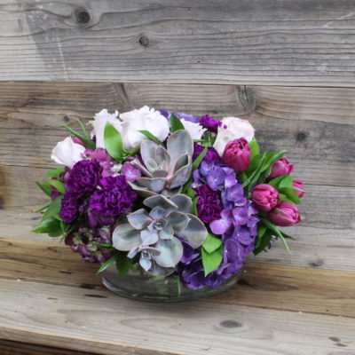 Purple mix flowers Mother's Day