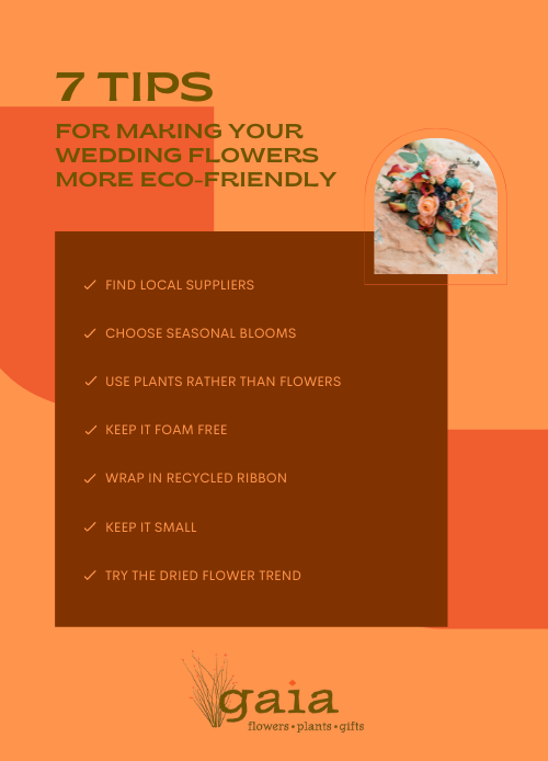 7 eco-friendly wedding tips infographic