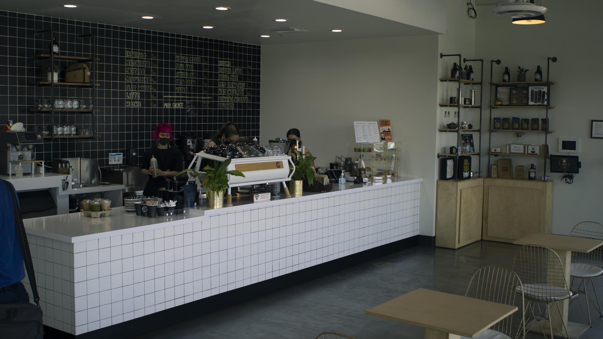 Golden Fog coffee counter